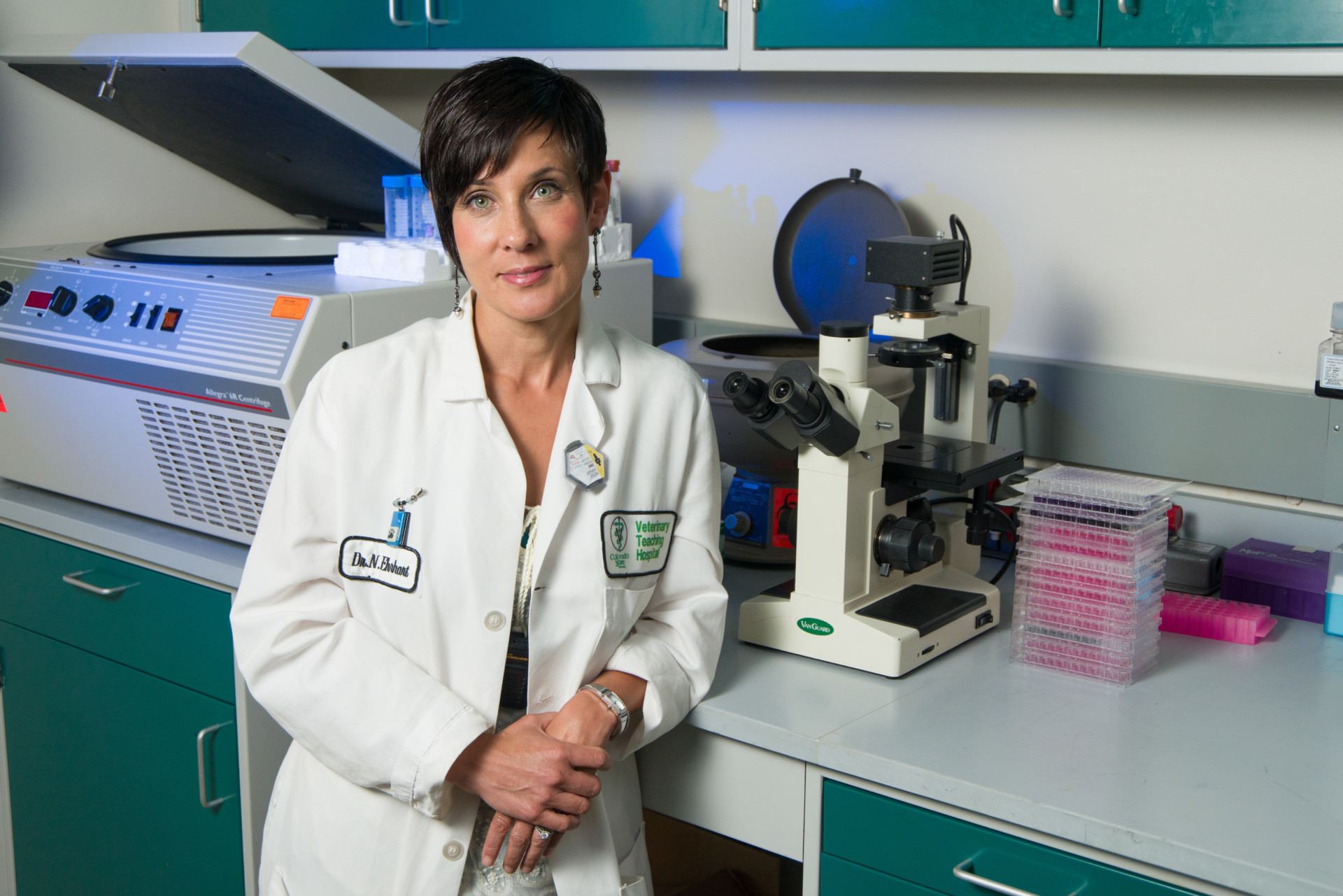 Nicole Ehrhart in her lab at Colorado State University