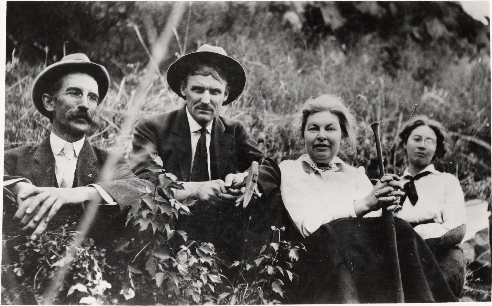 Samuel Johnson, Charles Lory, Margaret Durward, Miriam Palmer circa 1913