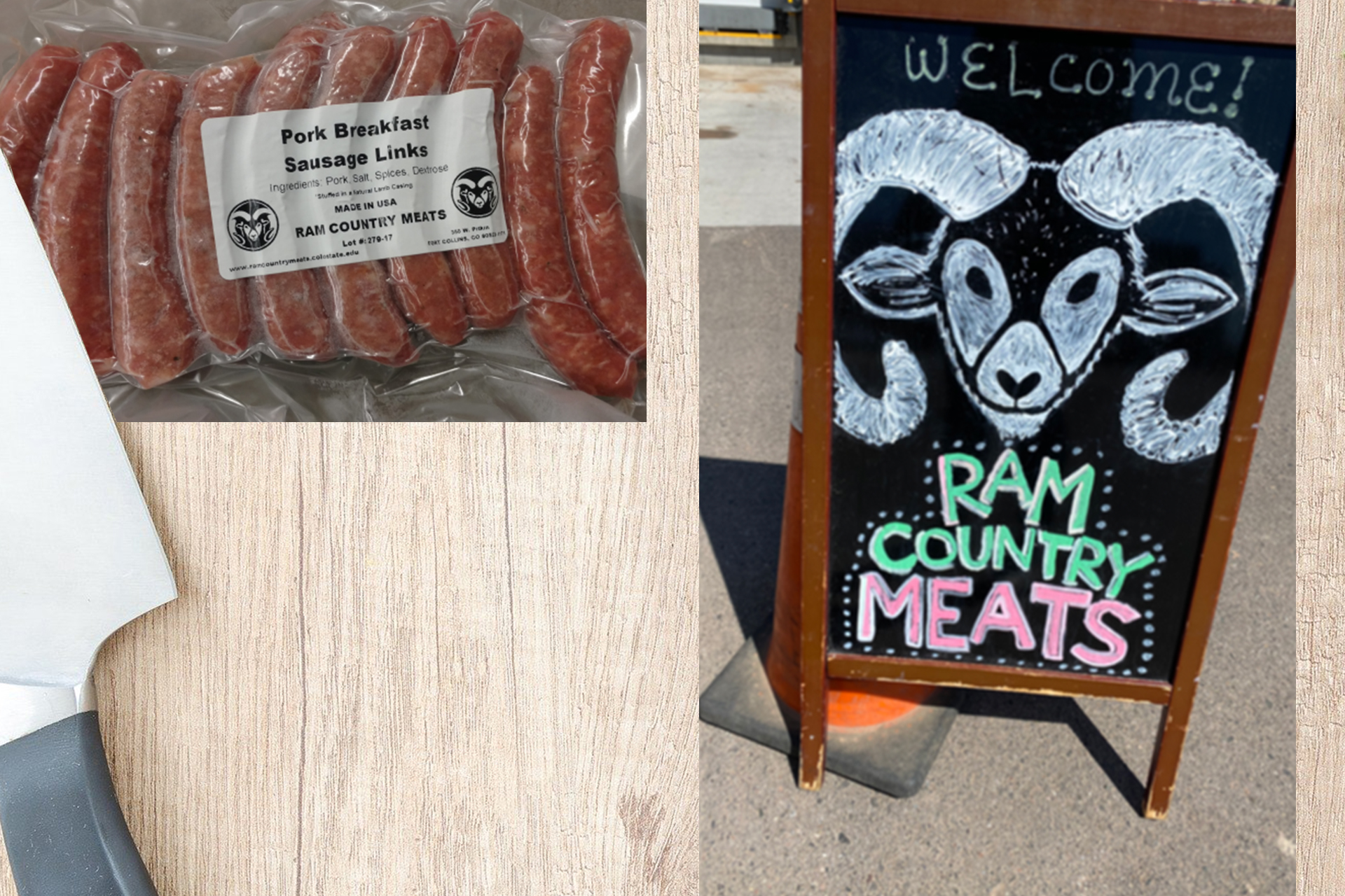 Ram Country Meats collage