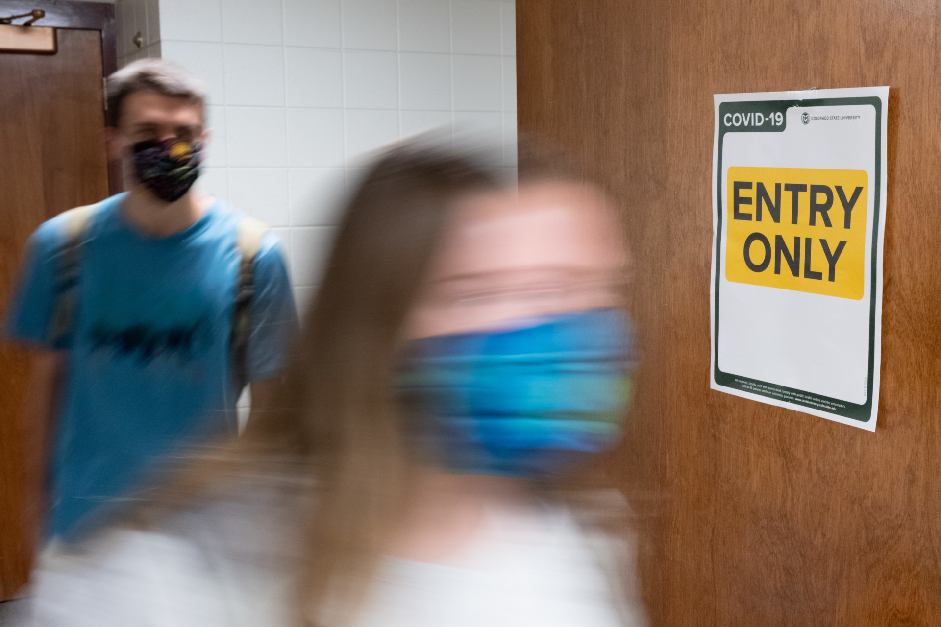 Students entering
