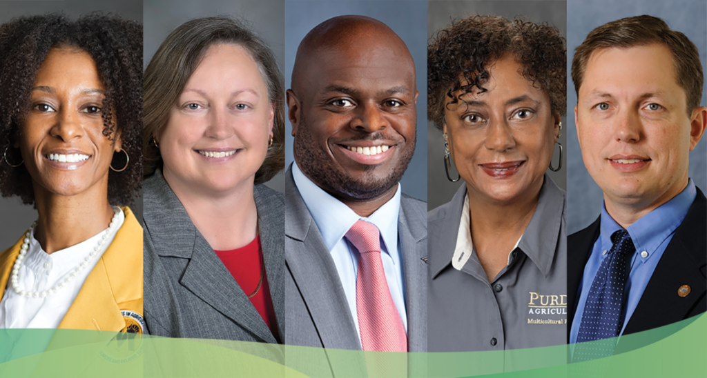 Panelists from Together We Grow webinar, hosted July 30, 2020. Left to right: Ebony Webber, Cathy Sutphin, Ph.D.; Tony Allen, Ph.D.; Pamala Morris, Ph.D.; Ben West, Ph.D.