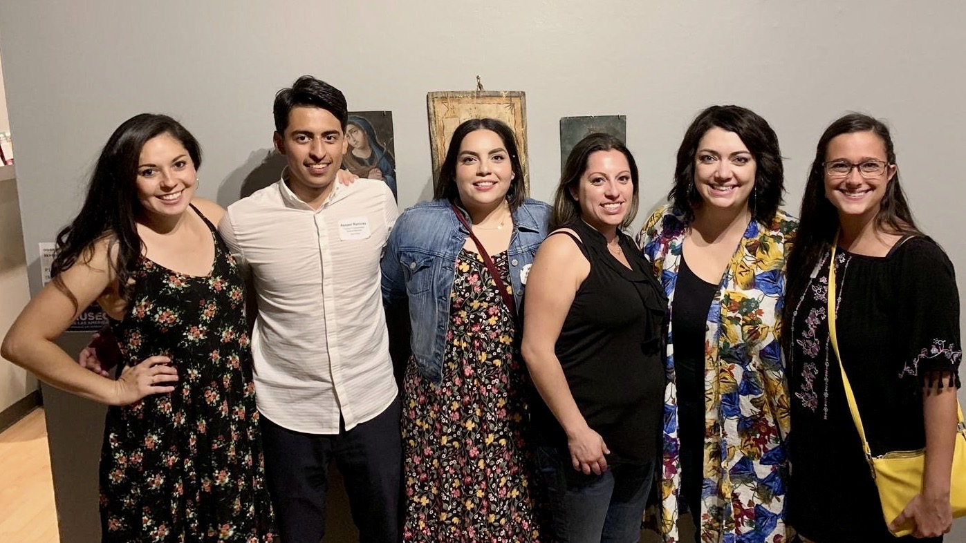 Latin American Educational Foundation Young Professionals Board members at the Salud fundraiser — an LAEF event organized by the YPB — on August 3, 2019. (Left to right: Miranda Aragon Mast, Assael Ramirez, Micaela Escontrias, Angela Rodriguez, Mandy Valdes, Andrea Mitra.)