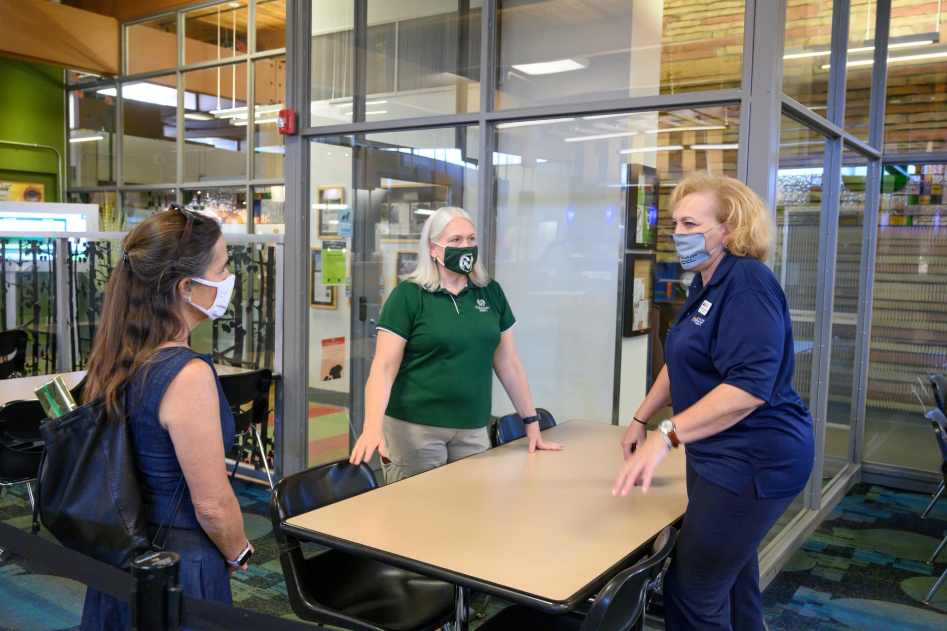 Angie Paccione talks to CSU staff