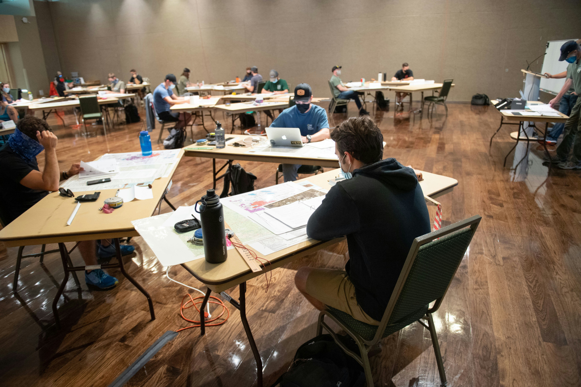 Students in Rocky Coleman's class
