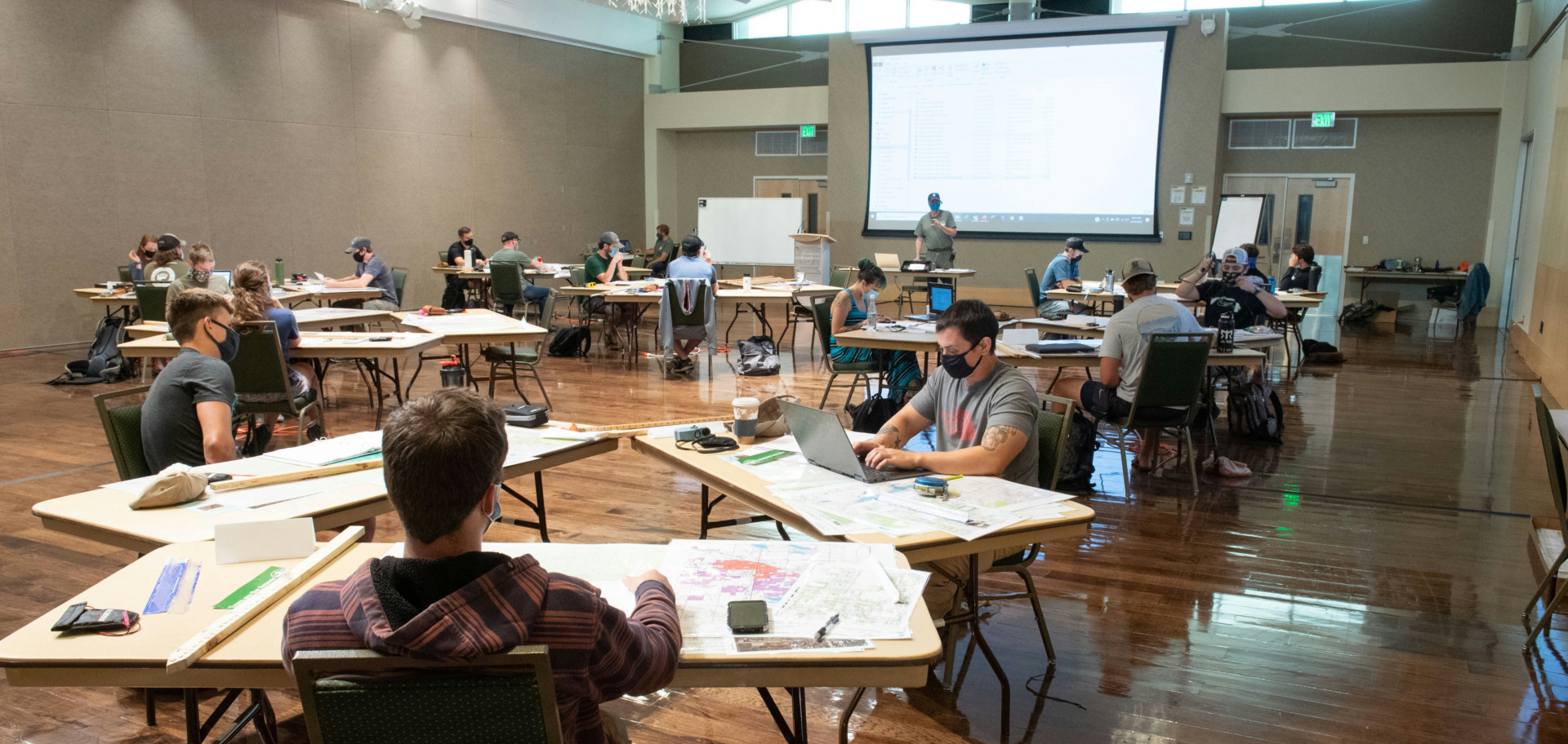 Students in Rocky Coleman's class during COVID