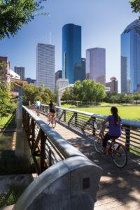 Buffalo Bayou Park Bicycle Path