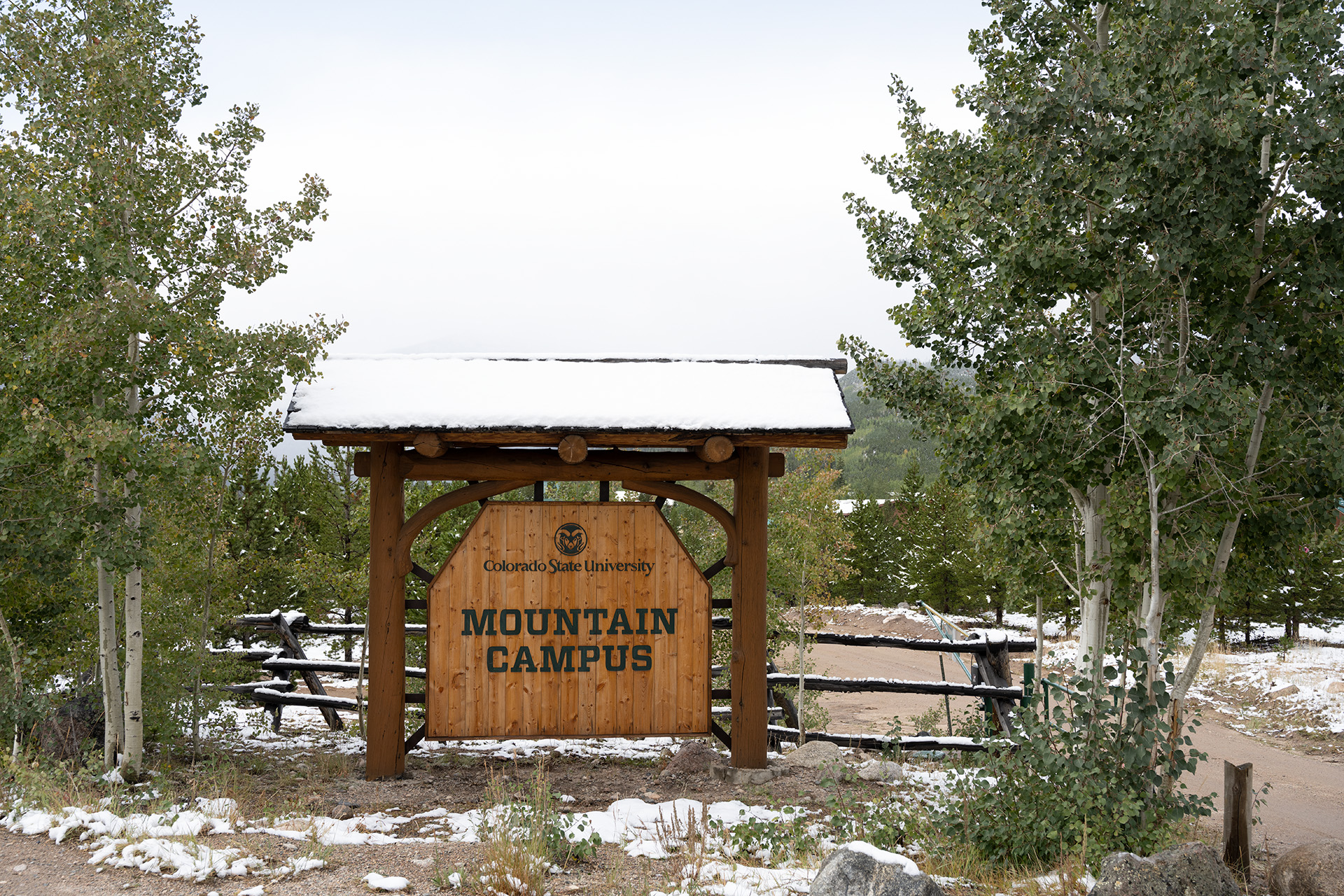 Mountain campus sign