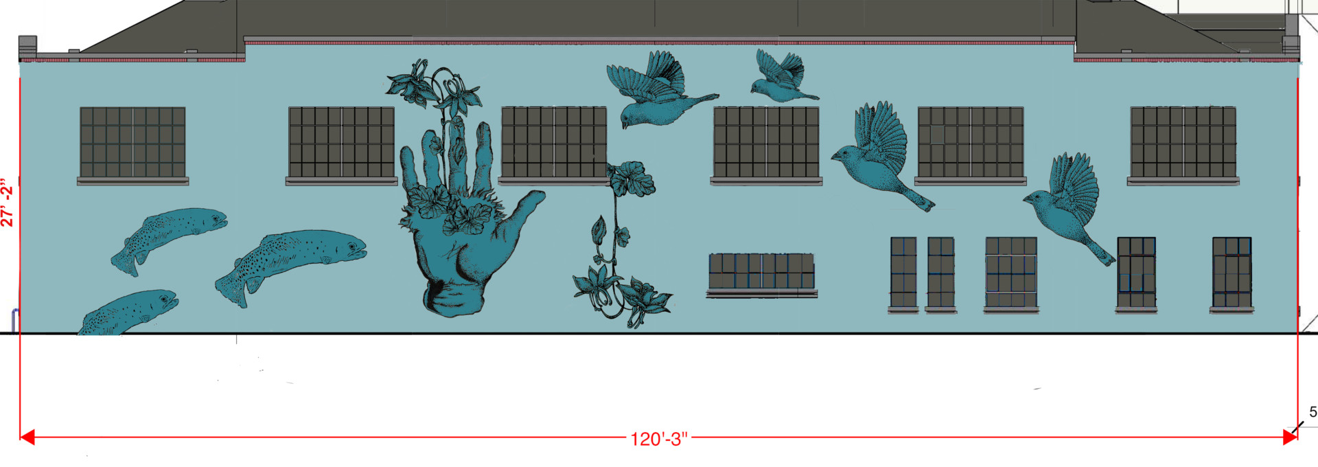 Design of the mural
