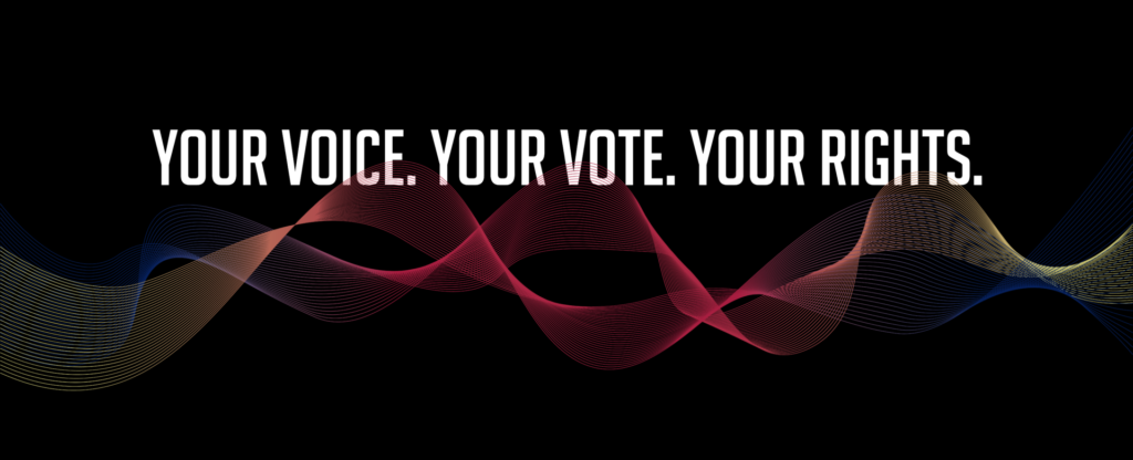 Your Voice YOur Vote Your Rights graphic
