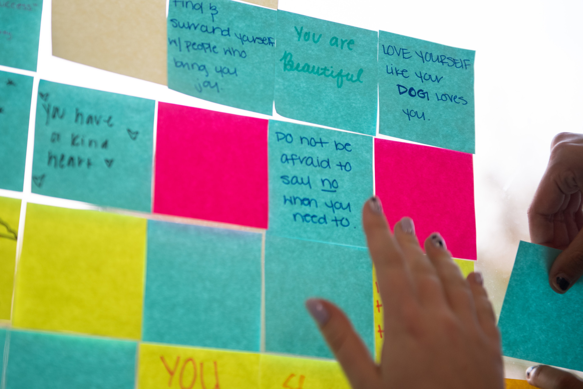 Messages on sticky notes
