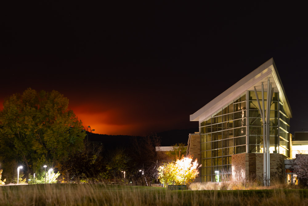 Cameron Peak Fire from Campus