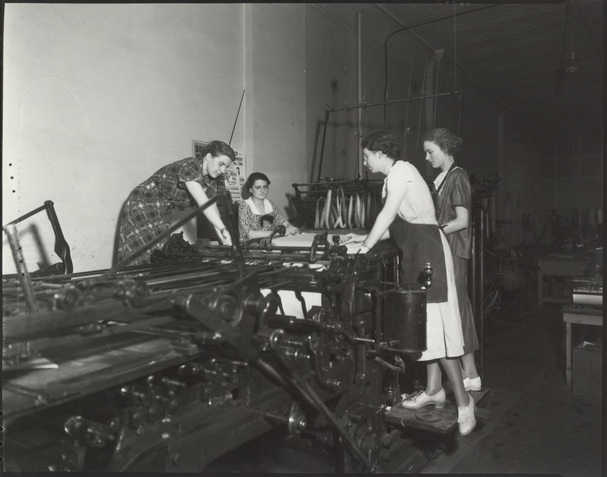Collegian Printing 1935