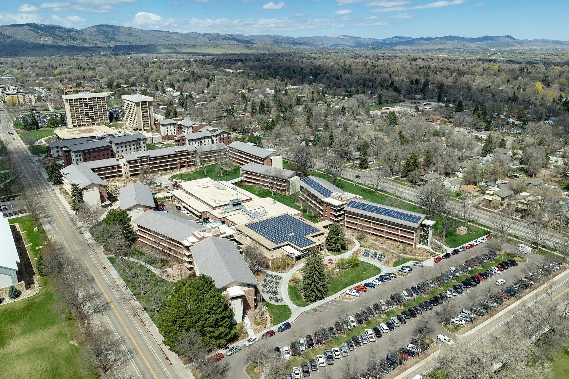 Aerial Photo of Housing at CSU