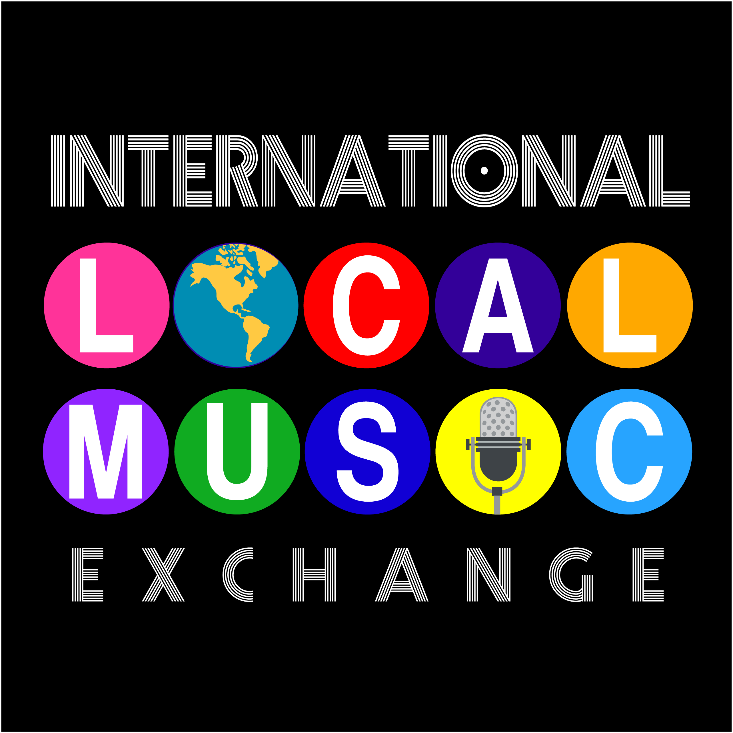 International local music exchange graphic