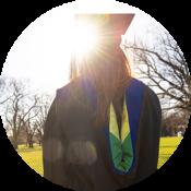 Circle photo of graduating student