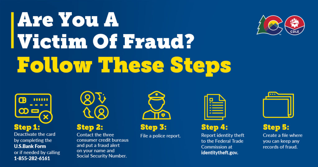 Steps to report fraud
