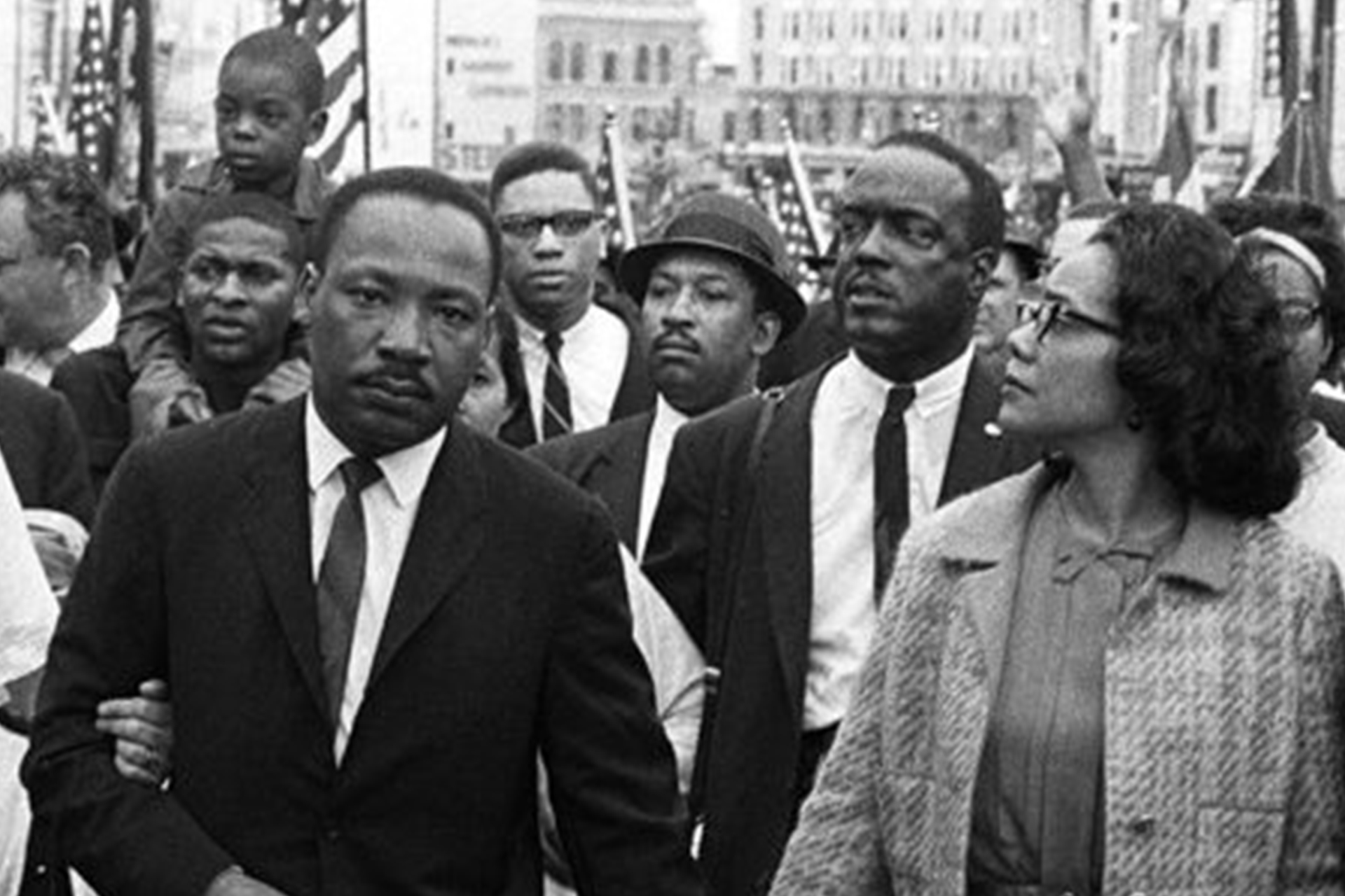 Martin Luther King Jr. at march