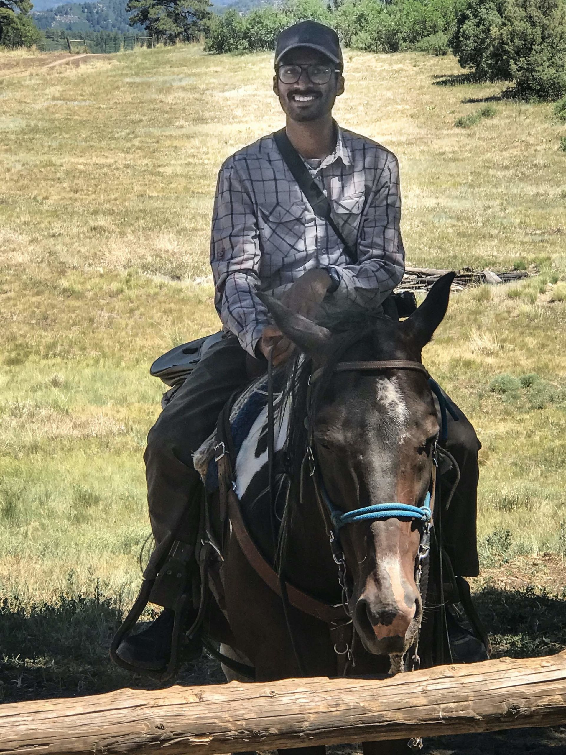 Student on horse