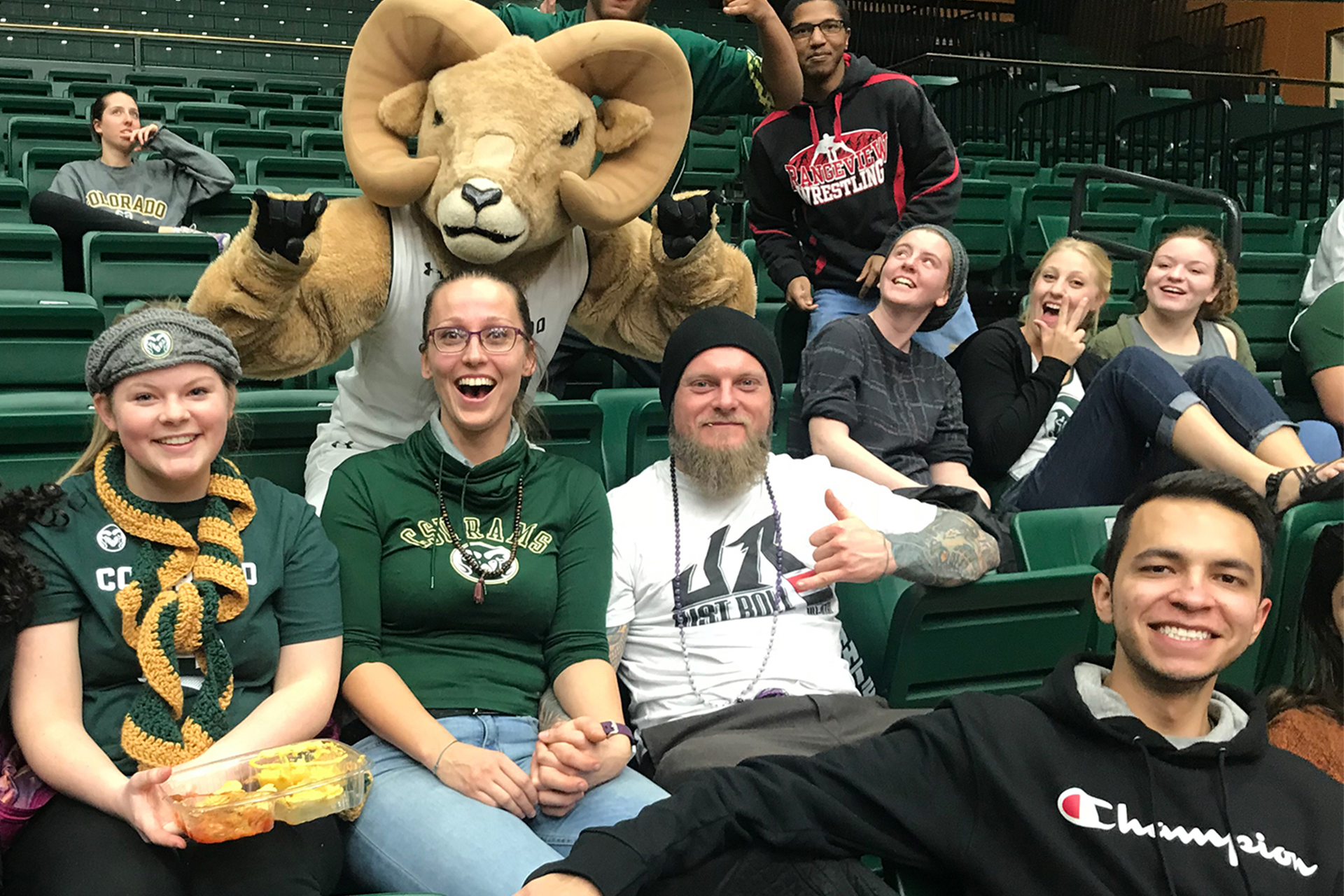 Fostering Success students at CSU basketball game