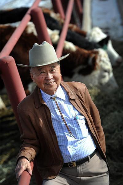 John Matsushima wearing cowboy hat