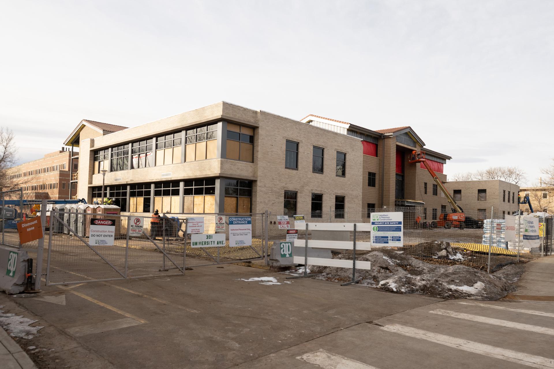 Construction at Shepardson Building