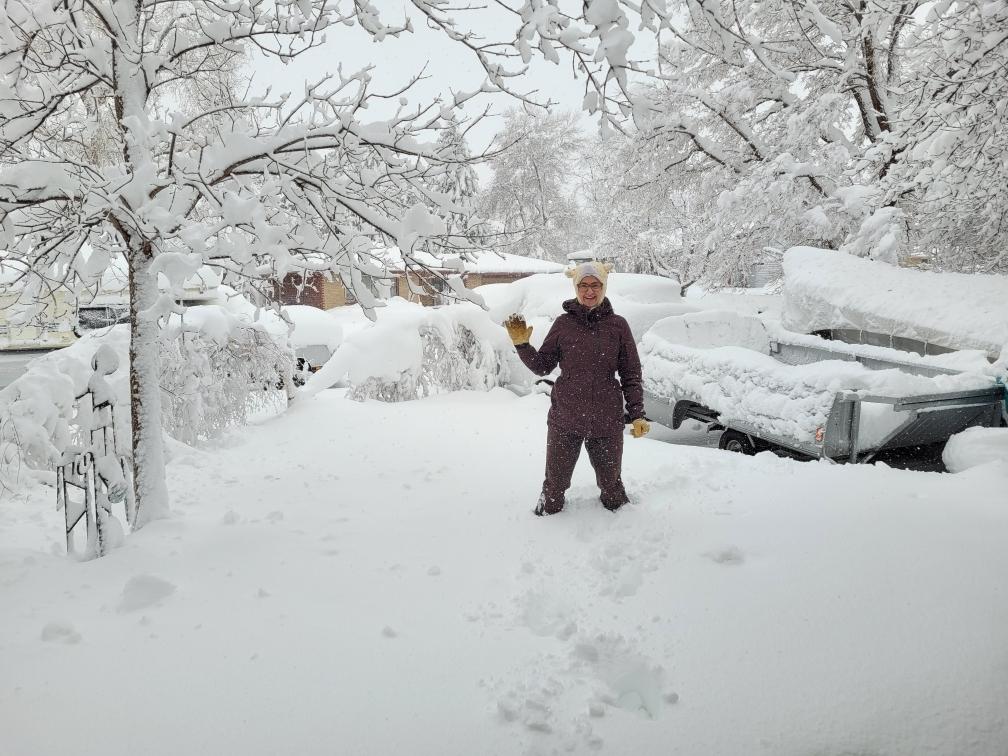 Jenna Allen standing in snow