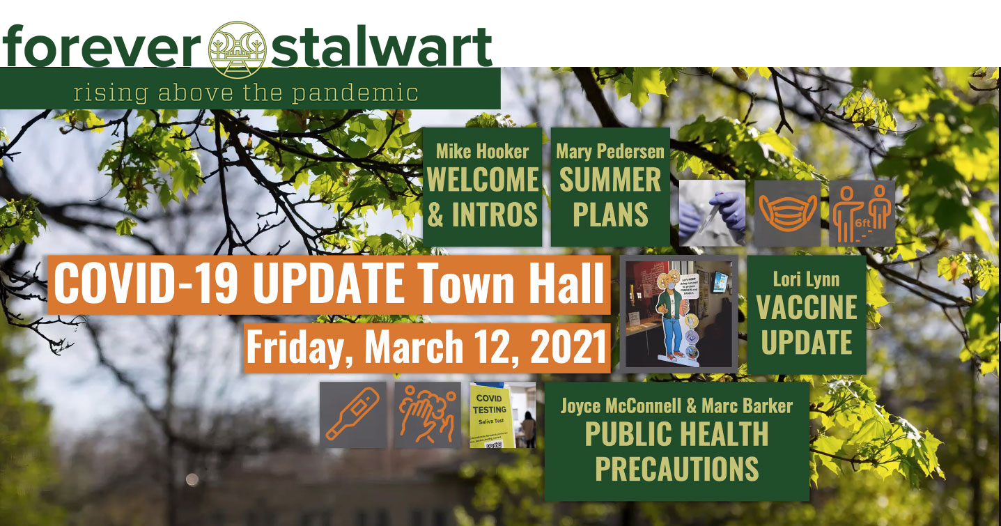 COVID Town Hall Graphic
