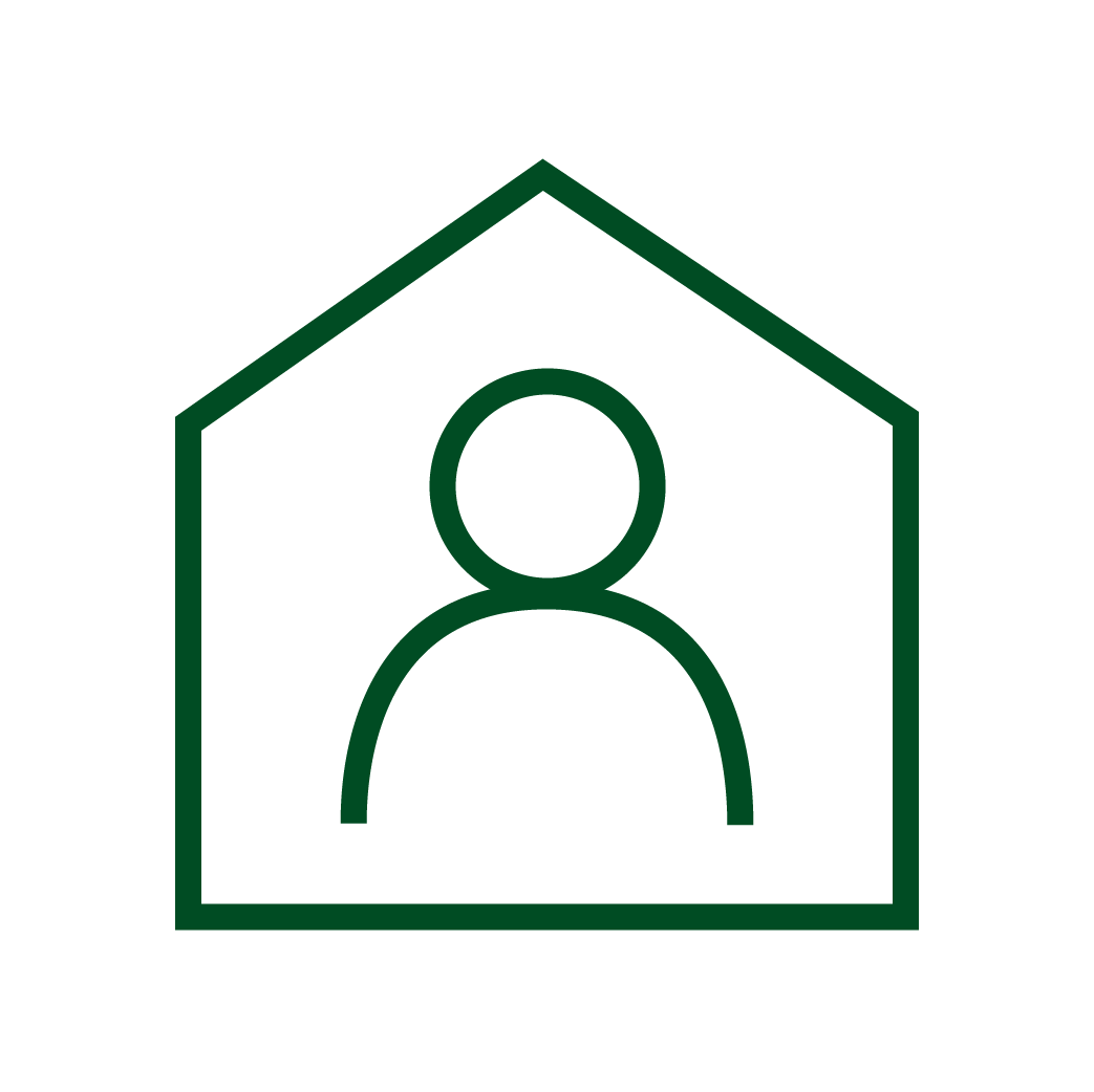 person/house graphic