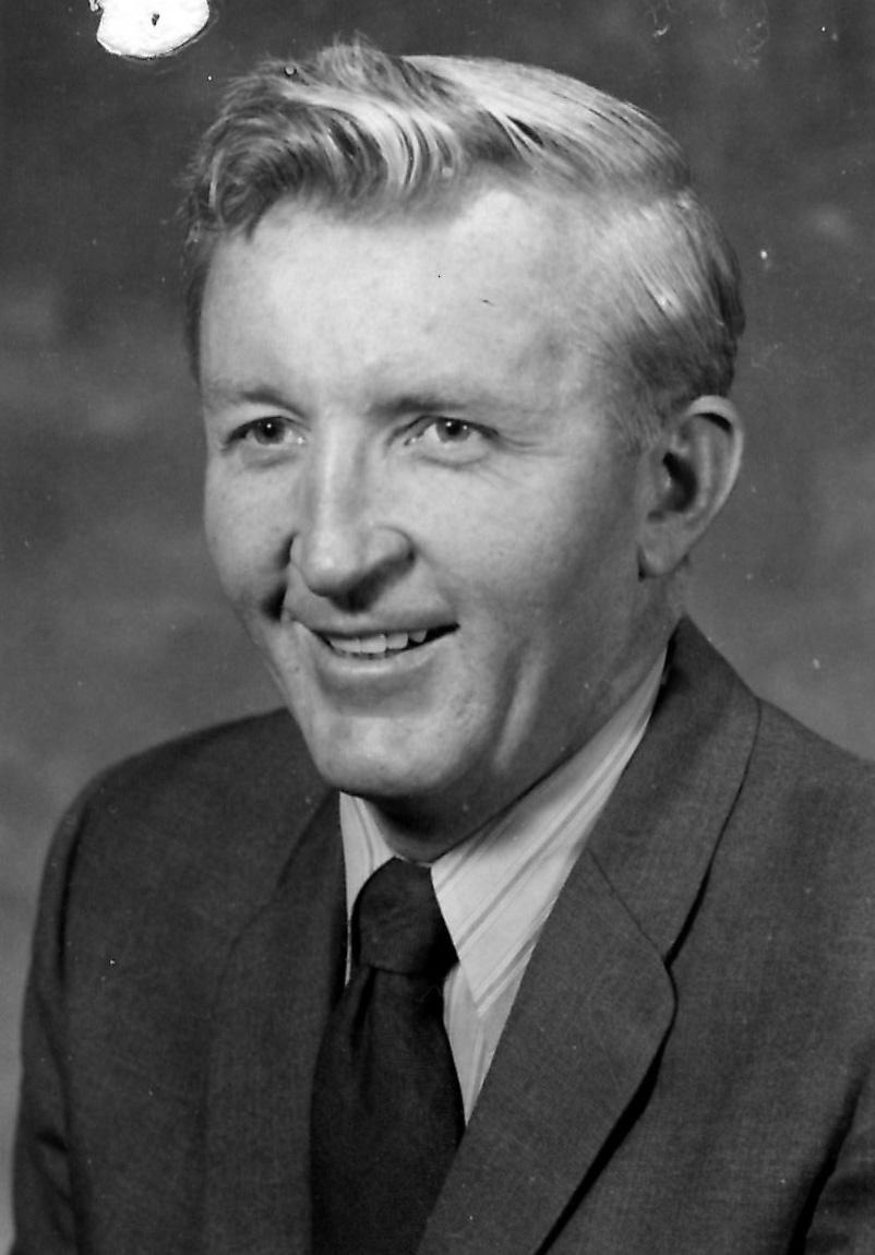 Robert Longenbaugh black-and-white portrait