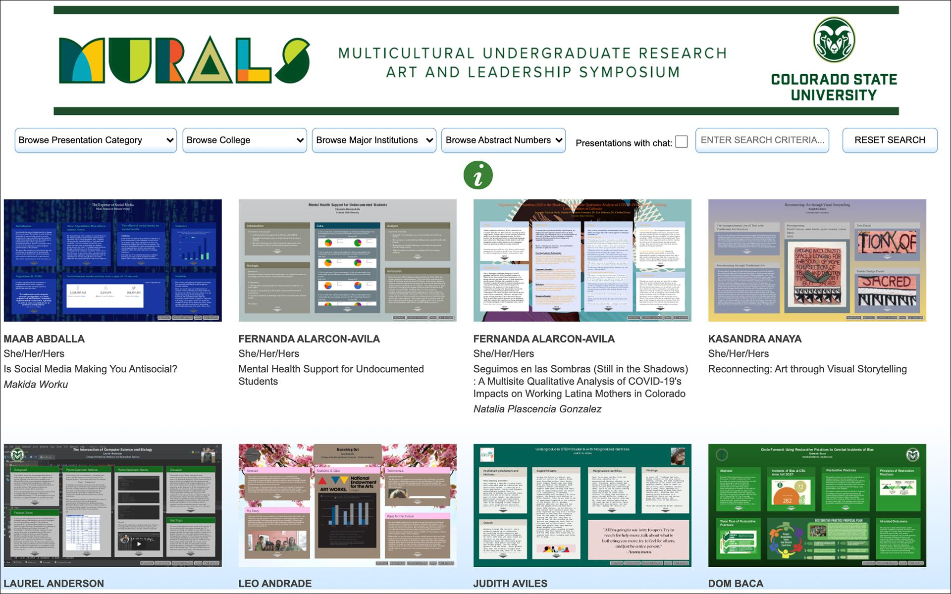 MURALS website for 2021