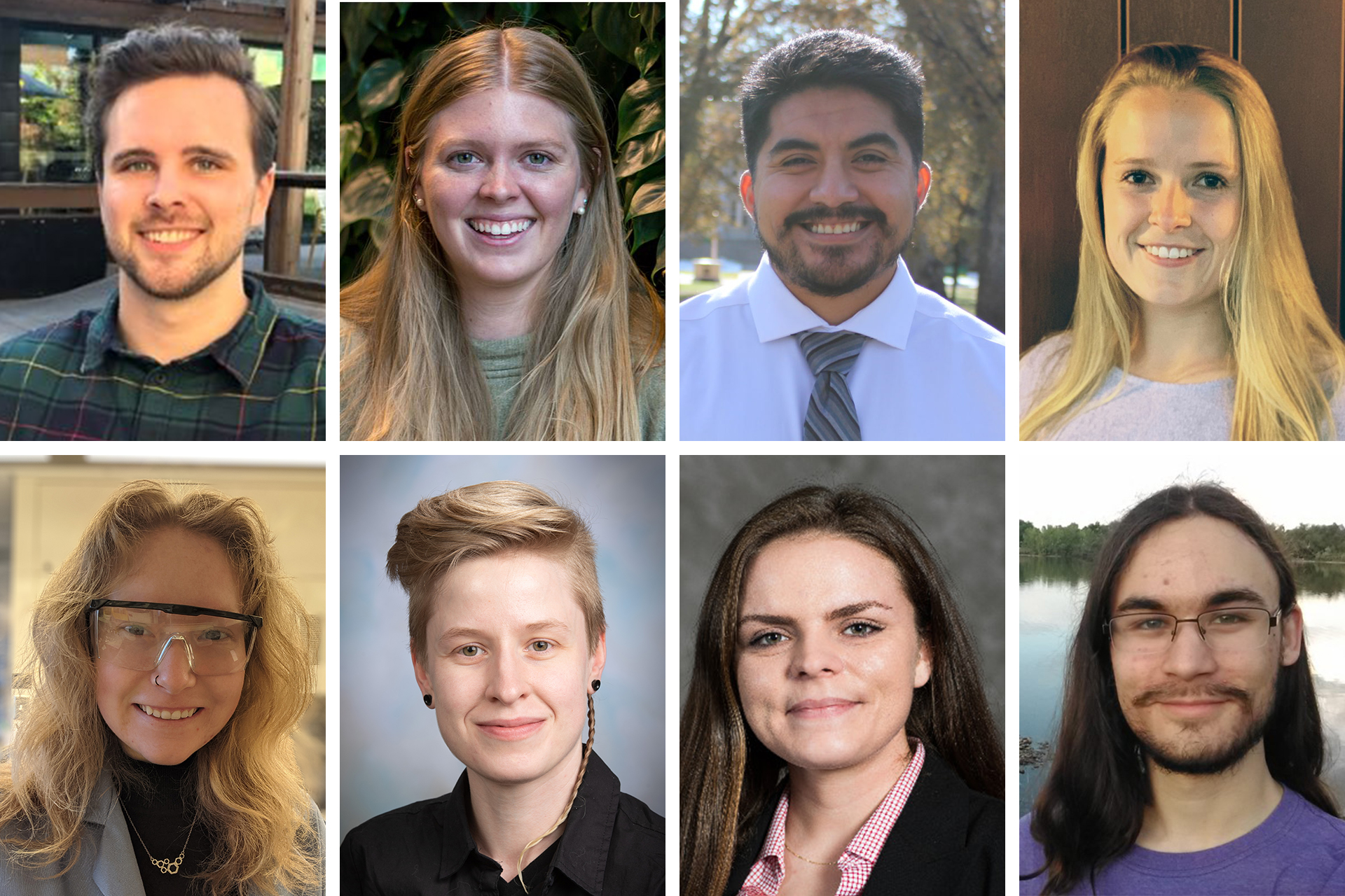 Collage image of NSF fellowship 2021 winners from CSU