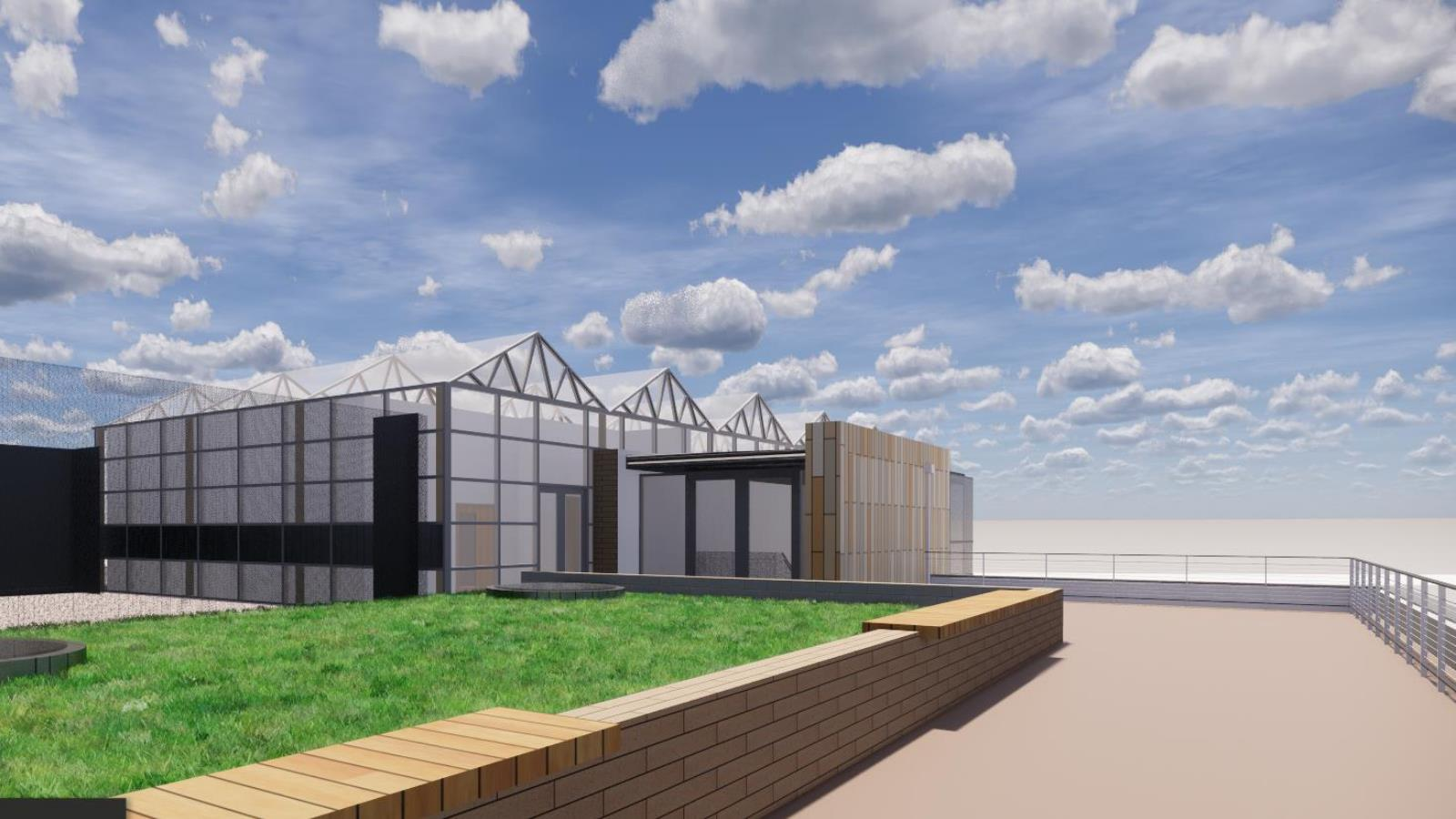 rooftop greenhouse rendering