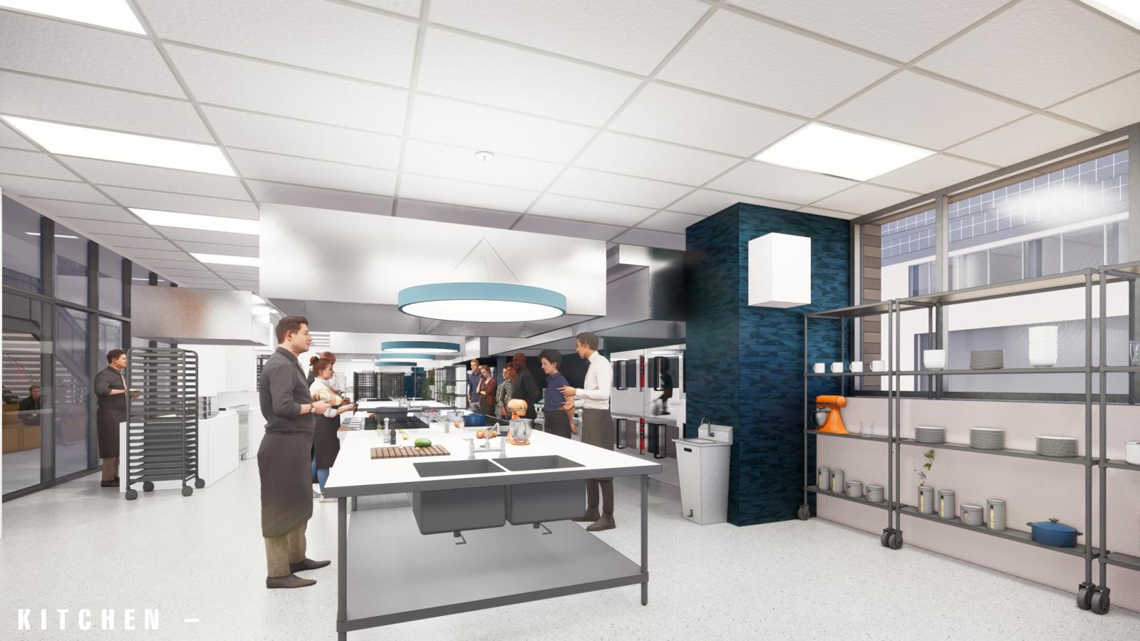commissary kitchen rendering
