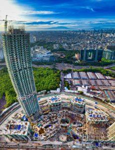 aerial view of city buildings in Jakarta