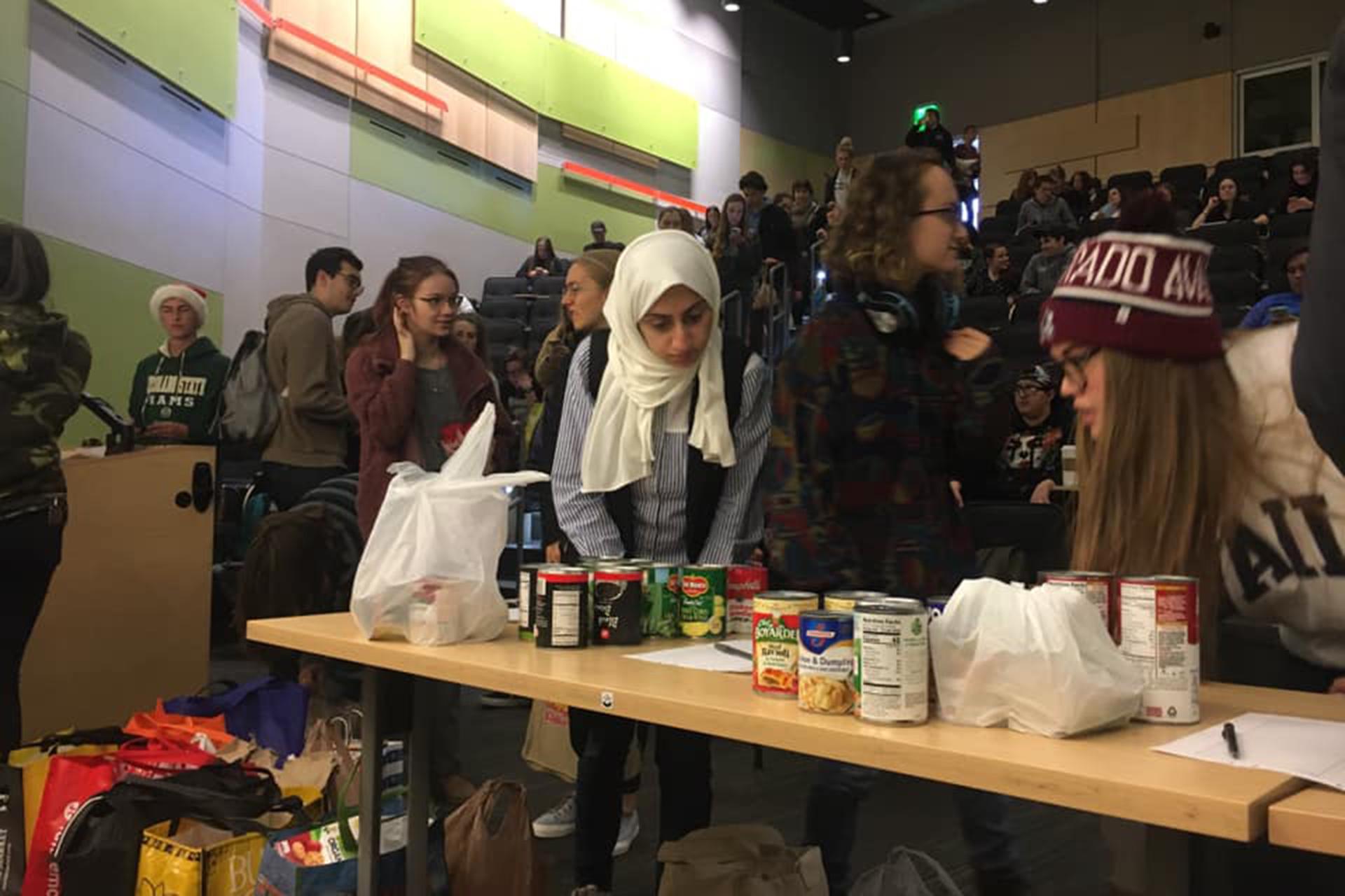 Sociology Students at CSU doing community service