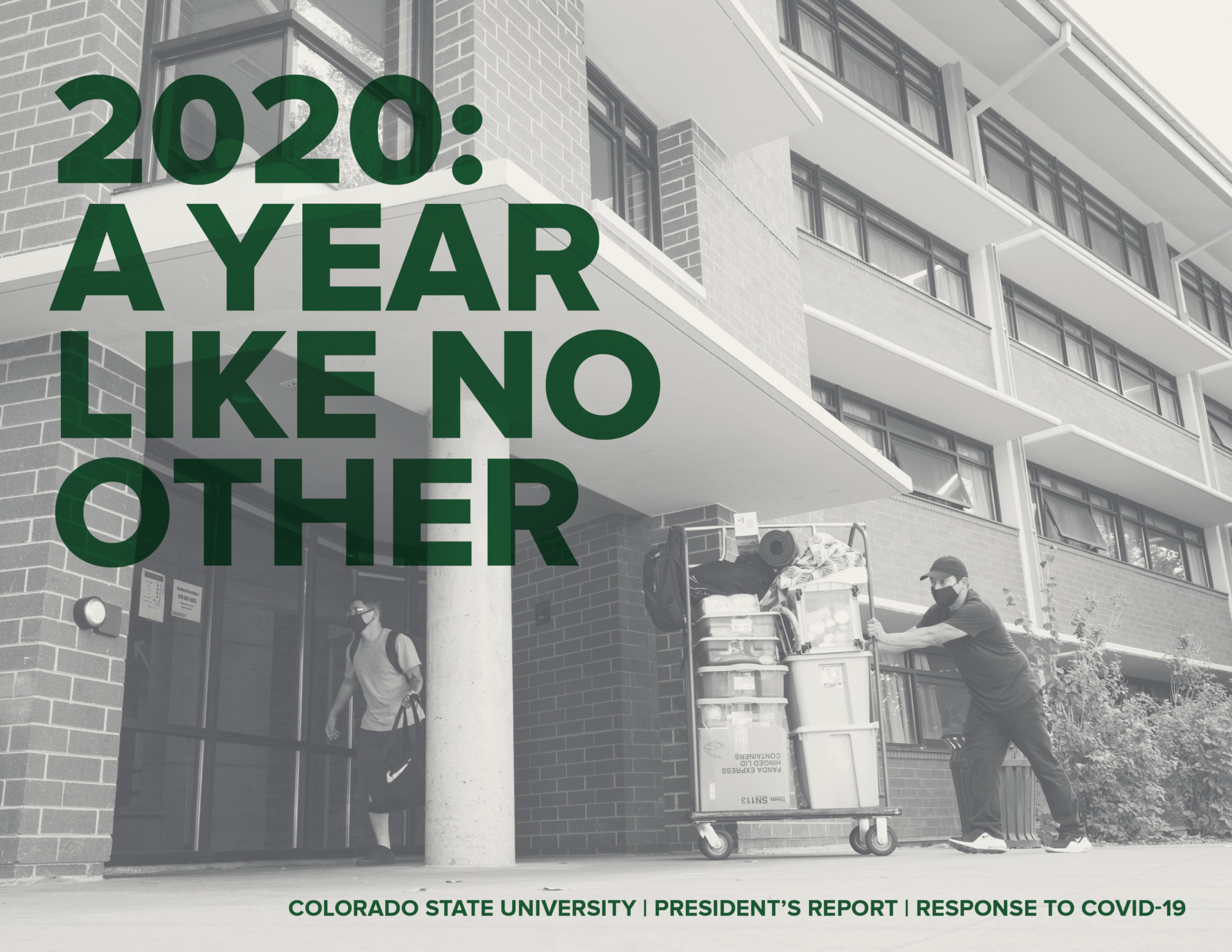 Cover of 2020 President's report A Year Like No Other