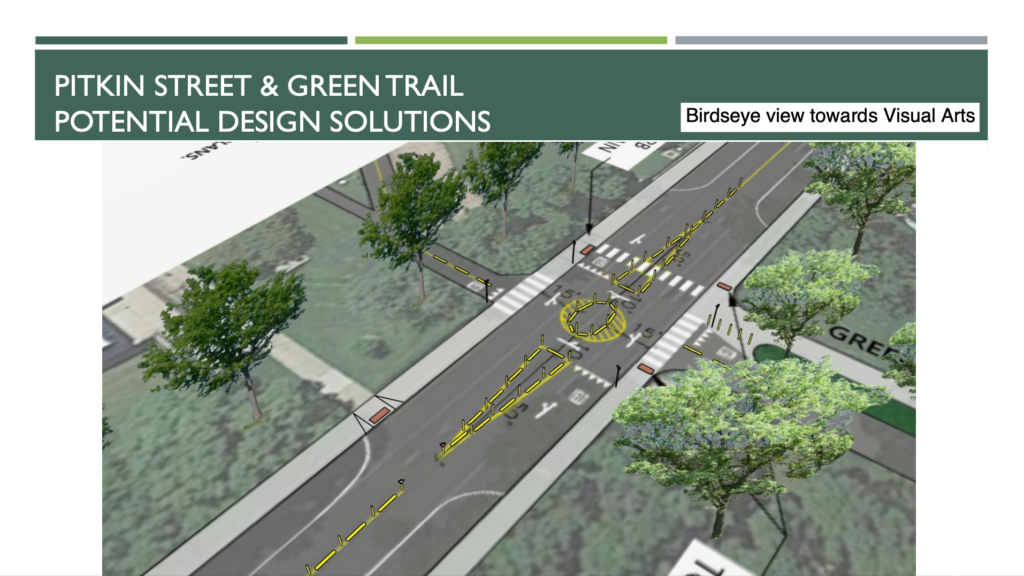 Pitkin Street Green Trail Roundabout