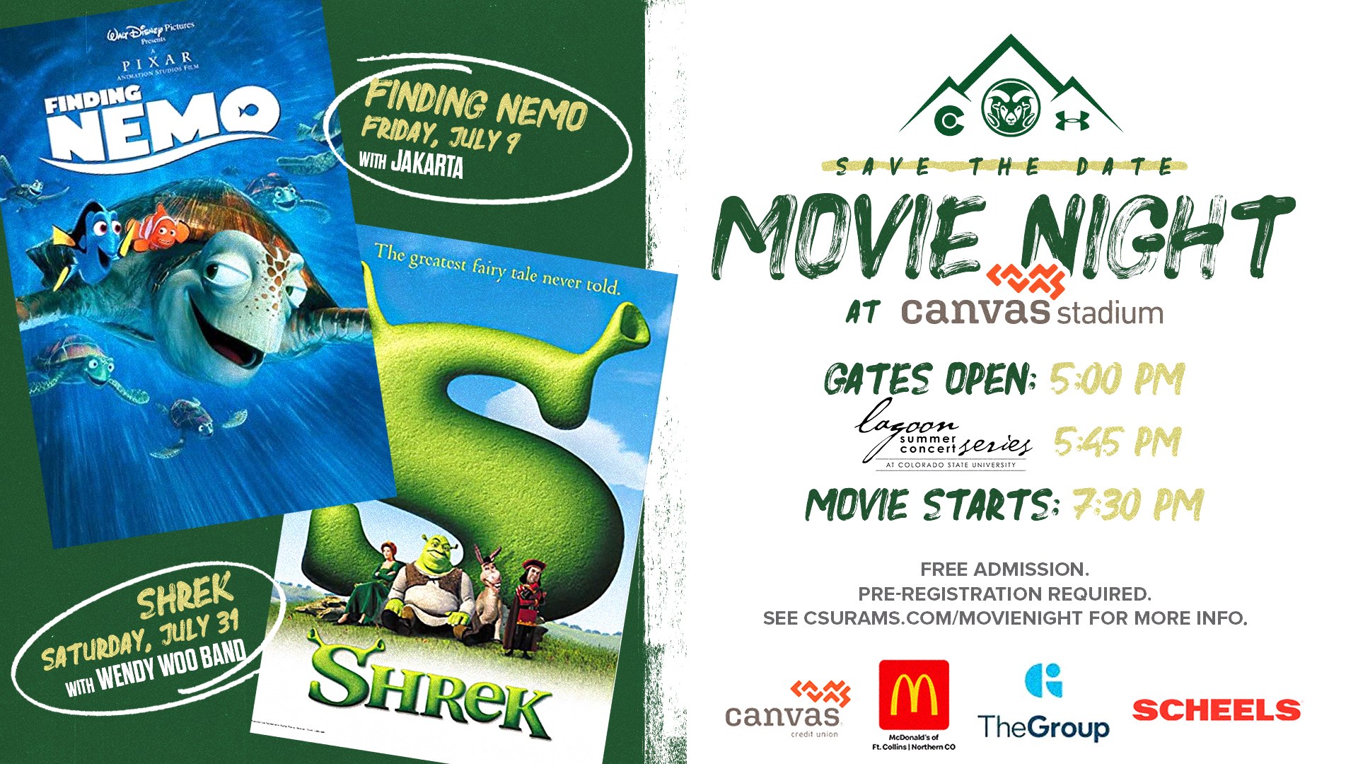 Flyer for Movie Nights