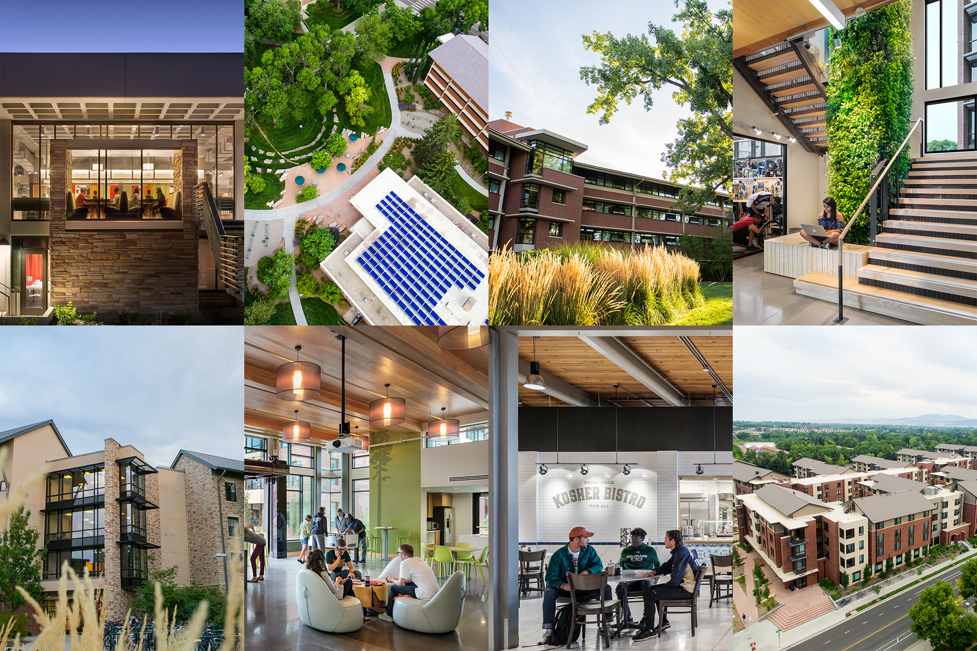 Collage of HDS Buildings At CSU