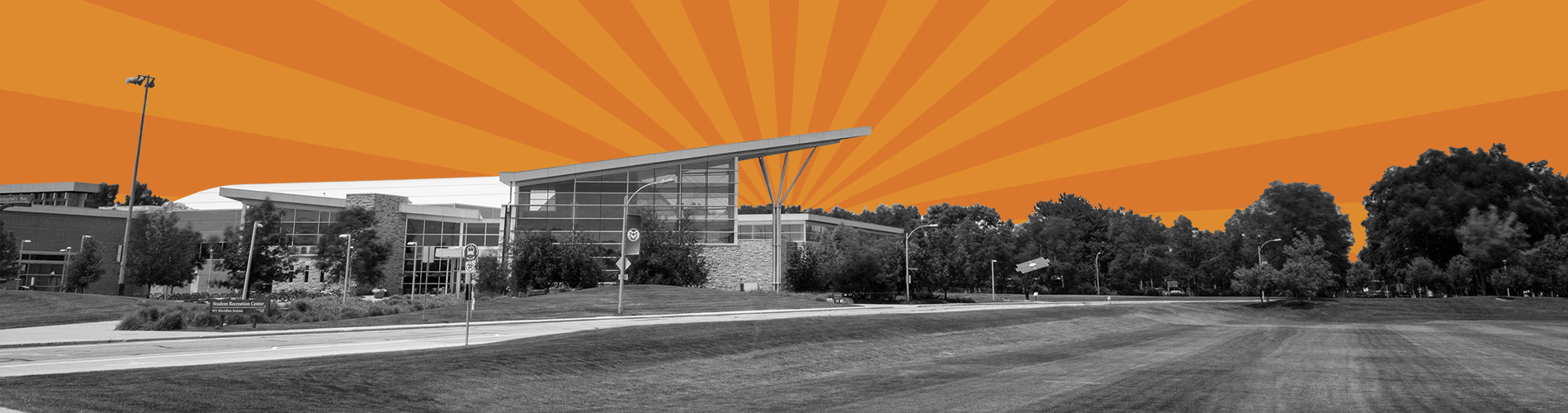 CST banner art of rec center