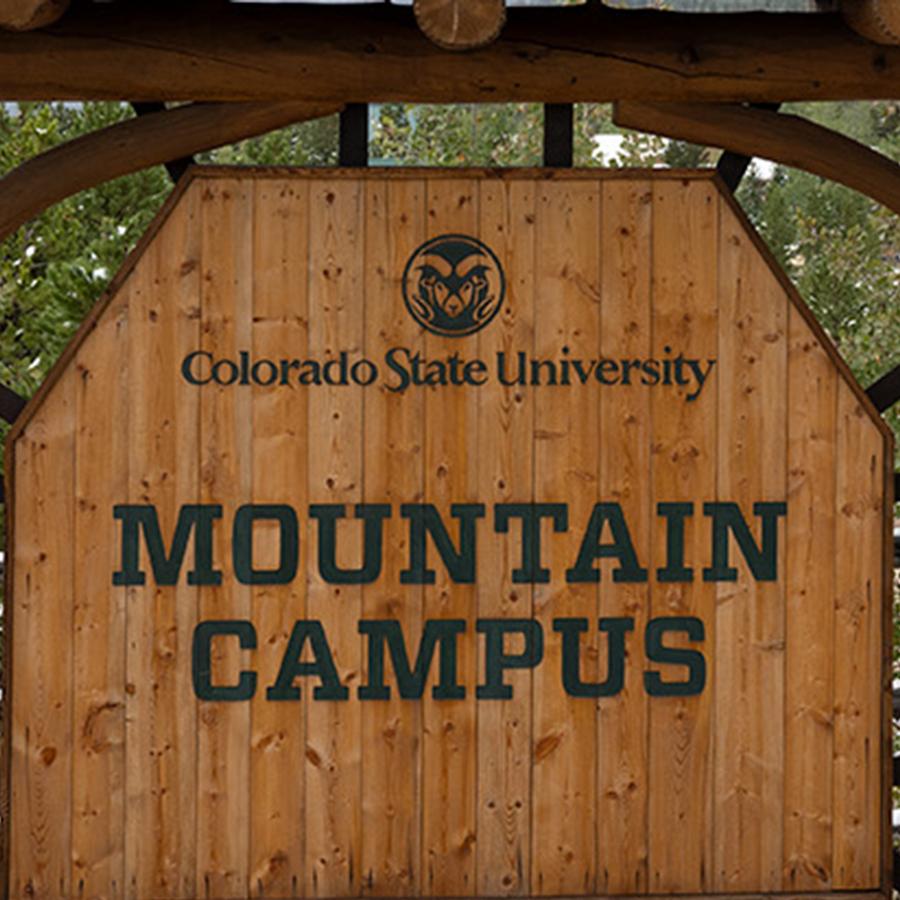 CSU Mountain Campus Sign