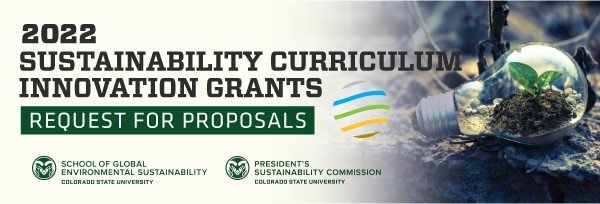 a banner announcing faculty apply for curriculum grants