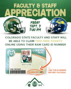 CSU Football Faculty and Staff Appreciation