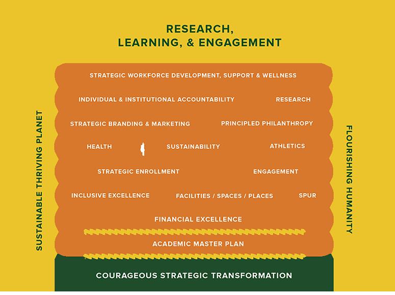 Visual representation of strategic plan efforts