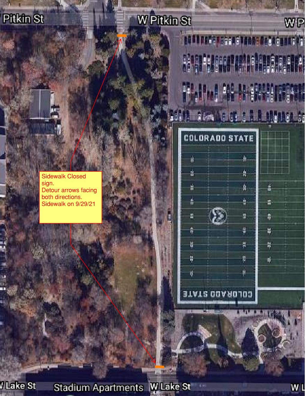 Arboretum Sidewalk Outage Map