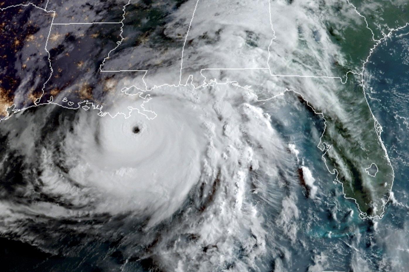 Hurricane Ida satellite image