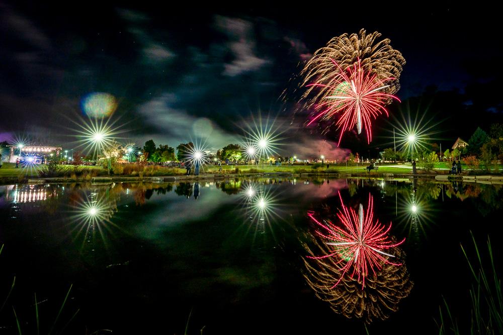 Fireworks over campus