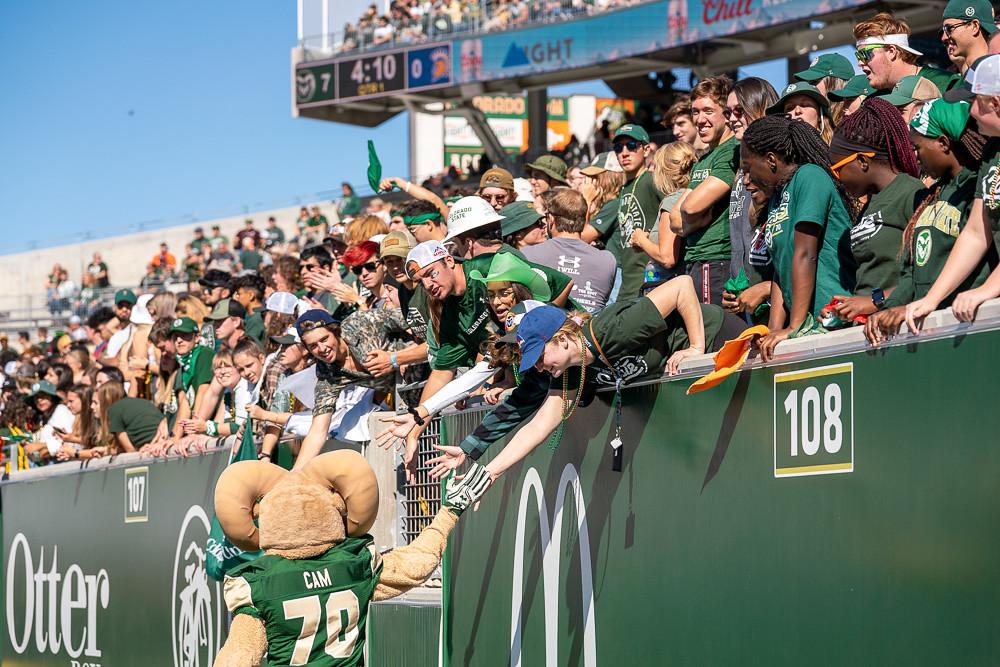 Cam high-fives fans